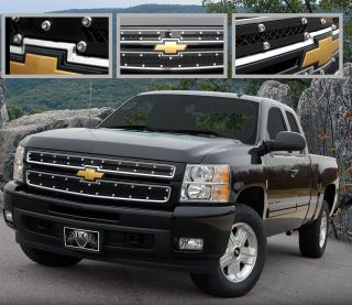 2007 2012 Chevy Silverado 1500 E Power Black Mesh Grille Grill E G