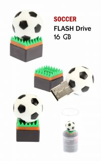 Soccer Football 16GB USB Flash Drive Memory Stick Pen Drive