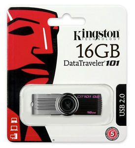 Kingston DataTraveler 101 Generation 2 16 GB USB Flash Drive Thumb Stick