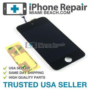 iPod Touch 4th 4 Gen Black Digitizer Touch Screen LCD Display with Adhesive