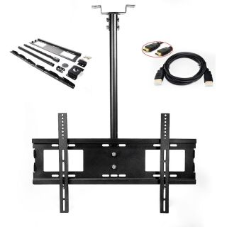 Swivel Tilting Ceiling Wall TV Mount Bracket LCD LED Plasma 32 39 42 47 50 58 60