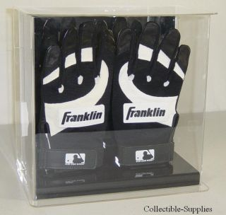 Baseball Double Batting Gloves Wall Mount Display Case