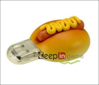 New 4GB Cool Food Hot Dog Hamburger USB 2 0 Flash Memory Drive Stick Pen 4 GB