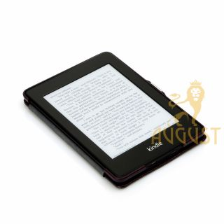 Coffee Thin Folio Leather Case Cover for Kindle Paperwhite Screen Protector Pen