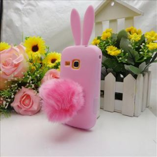 Pink Cute Bunny Rabbit Soft Skin Case Cover for Samsung Galaxy Mini 2 S6500