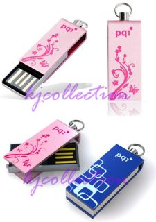 PQI 16GB 16g USB Flash Drive Mini Stick Strap I812 Pink