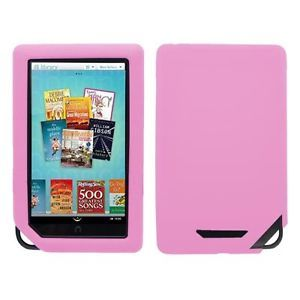 Pink Silicone Skin Case Cover Proetction for Barnes Noble Nook Nook Color