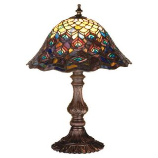 Dale Tiffany Peacock Accent Table Lamp