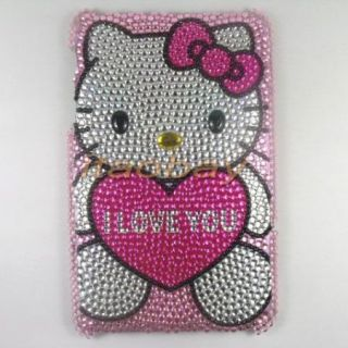 Cute Cartoon Bling Crystal Hello Kitty Skin Cover Case for Google Nexus 7
