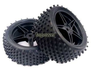 RC 4pcs Front Rear Tires Insert Sponge Wheel HSP 1 10 Off Road Buggy 66010 66030