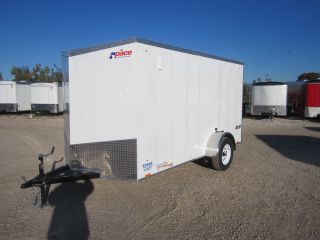 8447 New 2014 Pace Journey Flat Top 6x12' Enclosed Cargo Trailer 3K GVW Ramp V
