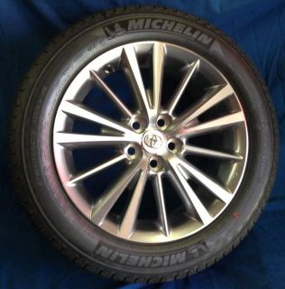 "16"" Toyota Corolla 2014 OE Silver Machined Wheels 4 New Rims Michelin Tires"