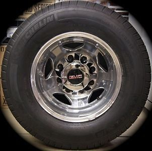 2011 14 Chevy Silverado GMC Sierra HD 3500 Dually DRW Wheels Rims michelin Tires