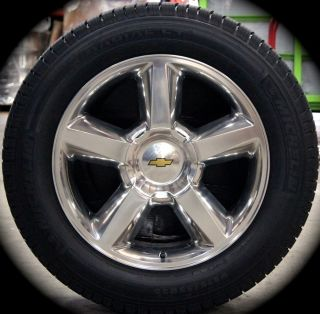 "New Chevy Silverado Tahoe Suburban Avalanche LTZ 20"" Wheels Rims Michelin Tires"
