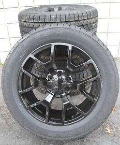 "20"" GMC Yukon Sierra Brand New 2014 Factory Style Black Wheels Goodyear Tires"