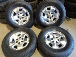 "Factory Chevy 1500 Aluminum 17"" Wheels and Goodyear Tires 6x5 5"