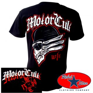 Motorcult Headers T Shirt Rockabilly Tattoo Hot Rods Kustom Metal Chopper Punk