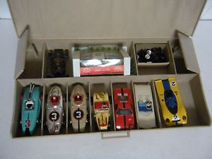 Vintage Aurora HO Tjet Slot Car Lot of 8 Camaro T Bird Vtg Hot Rods RARE Cars