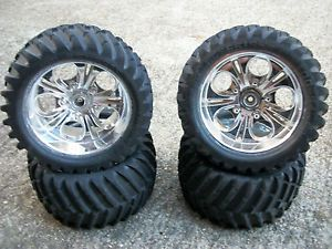 Cen 7 7 Wheels Traxxas Tmaxx 23mm Hex RC Truck Tires Rims Part
