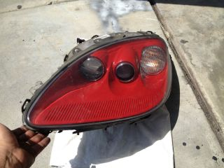C6 Corvette Headlight Assembly Drivers Side 2005 2013 Victory Red Damaged