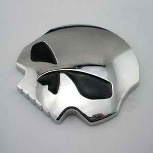 Motorcycle Car 3D Skull Chrome Logo Emblem Badge Sticker Black Eye Style
