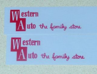 Structo Western Auto Stores Pickup Truck Decals St 067