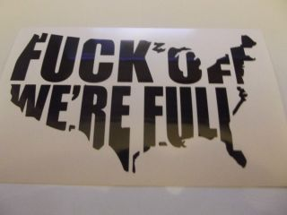 USA F Off Vinyl Decal Sticker Car Truck Window Funny