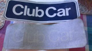 2 Unused Vintage Club Car Golf Car Truck Decals for Golf Cart Service Truck