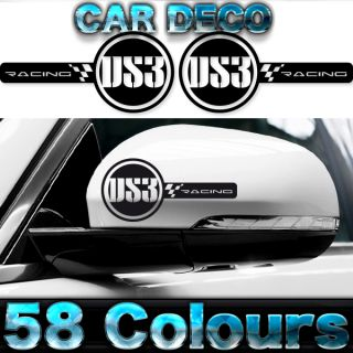 Custom Citroen DS3 Racing Wing Mirror Decals Stickers by Cardeco Any Colour