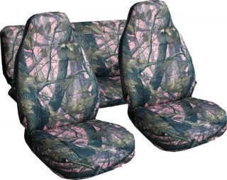 Jeep Wrangler TJ Car Seat Covers in Camo Pink Real Tree or Choose Color