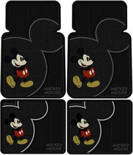 Front Rear Rubber Floor Mats Car Truck SUV Disney Mickey Mouse Vintage