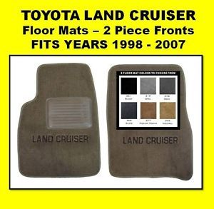 1991 1997 Toyota Land Cruiser Floor Car Mats 2 Piece Fronts w Monogram
