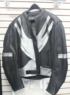 Real Leather Motorcycle Jacket Size Mdeium Fits Small CLEARANCE Sale