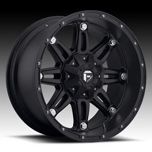 "17"" Fuel Offroad 17 inch 17x9 Hostage XD Black Chevy Ford Truck Rims Wheels Set"