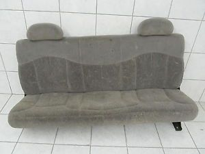 Chevy Silverado Sierra Truck Rear Cloth Folding Seat Gray