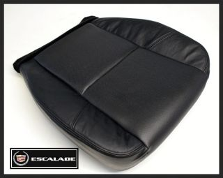 2007 2008 Cadillac Escalade AWD Ext ESV Driver Bottom Leather Seat Cover Black