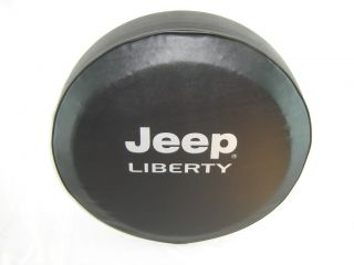 Sparecover® ABC Series Jeep Liberty Tire Cover Silver Metallic Logo HD Vinyl