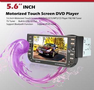 "Hot Selling 5 6""Touch Screen 1 DIN Car Stereo DVD Player Radio iPod Bluetooth US"