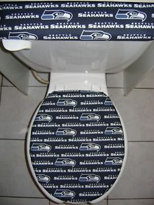NFL Seattle Seahawks Fabric Toilet Seat Cover Set