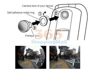 180 °detachable Fish Eye Lens for Apple iPhone Mobile Phone Digital Camera