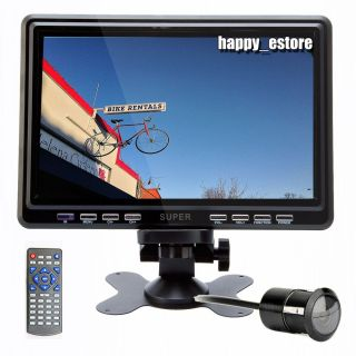 "L0649 Deal 9"" HD LCD Digital Car TV Monitor Antenna Stand Headrest FM Backup Cam"