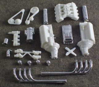 1 25 Scale Model Car Parts Junk Yard Nostalgic Hot Rod Lincoln Engine Motor
