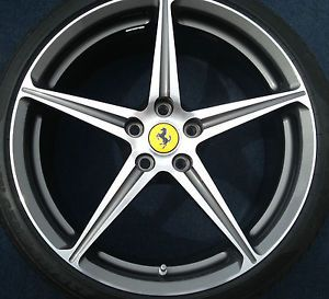 "20"" Ferrari 458 Italia Sport Wheels Rims Pirelli Tires Diamond Finish"