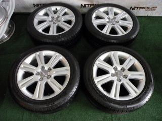 "17"" Factory Audi A4 Wheels CQ8 Pirelli Tires B8 S4 VW"