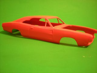 1969 Dodge Charger General Lee Painted Orange Slot Car Body 1 25 Model Car Part