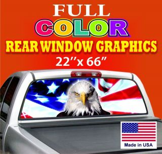 American Eagle Car Rear Window Graphics Tint Decals Truck Ford Dodge Chevy