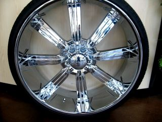 "28"" Hummer H2 SUT Chrome Wheels Rim Pirelli Tires 26 24"