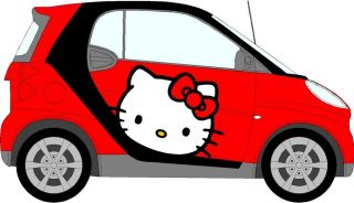 Hello Kitty Car Sticker Mini Smart Car Decals