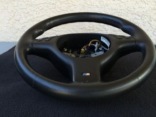 BMW M E39 E46 M3 M5 330 x5 Complete Black Sport Leather Steering Wheel