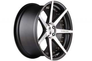 "20"" Vertini Dynasty Machined Concave Staggered Wheels Rims Fits Lexus Isf"